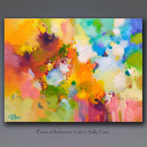 Points of Reference, Original Abstract Painting, Sold