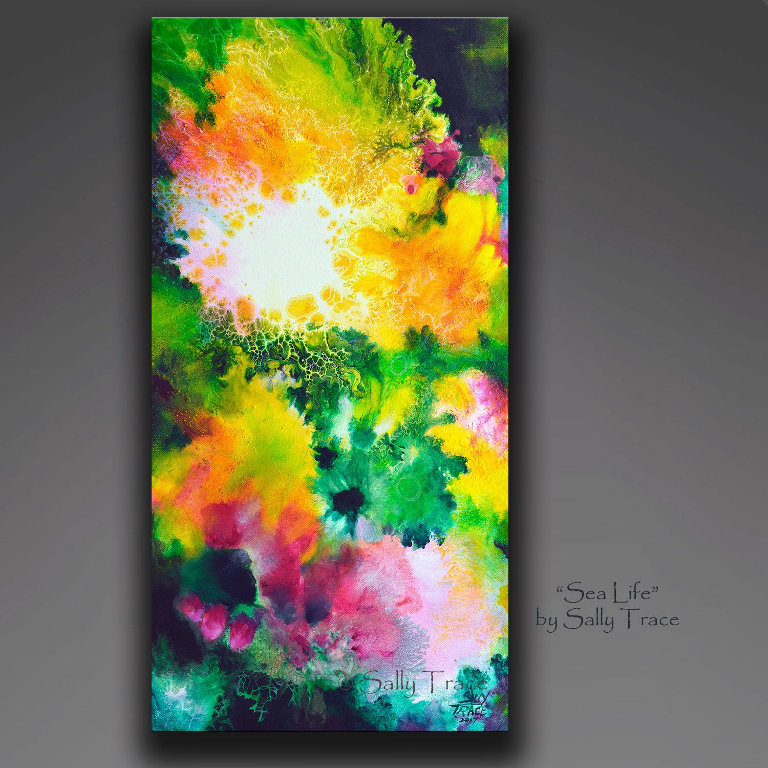 Sea Life, Original Fluid Painting, Sold