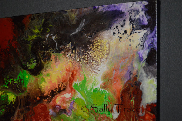 Strata, original fluid painting by Sally Trace, detail view