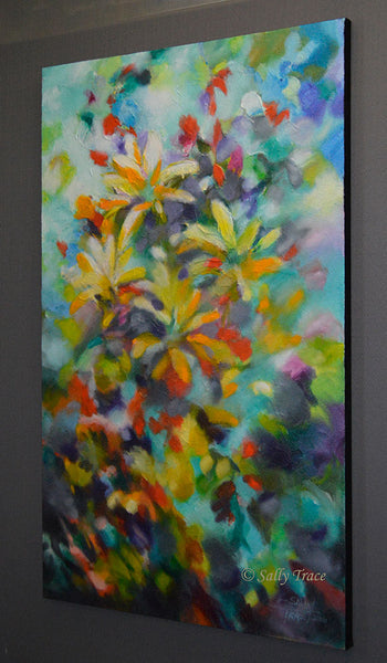 "Original abstract textured painting by Sally Trace ""Summer Sweetness"""