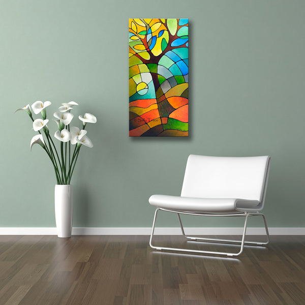 """Summer Tree"" giclee prints on stretched canvas by Sally Trace"