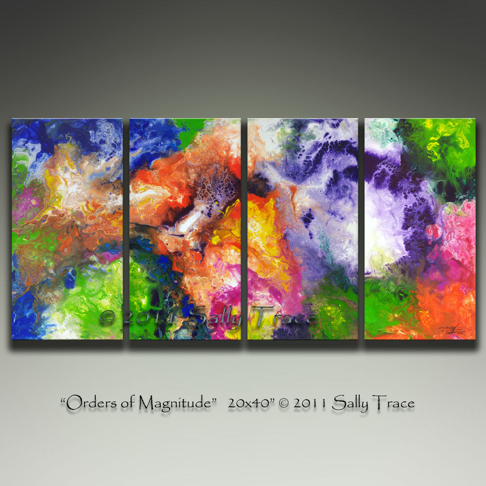 Orders of Magnitude, Original Fluid Four Canvas Painting, Sold
