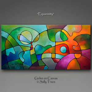 Equanimity, contemporary abstract modern art prints for sale by Sally Trace
