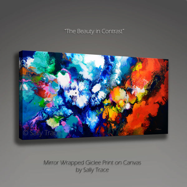 """The Beauty in Contrast"" Giclee Prints from the Original Abstract Painting by Sally Trace"