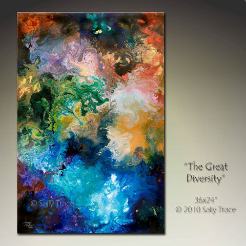 """The Great Diversity"" giclee prints on canvas by Sally Trace"