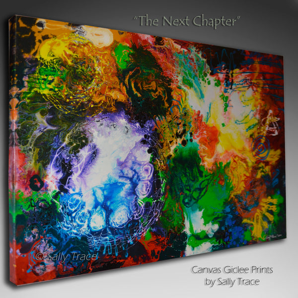 Canvas prints, contemporary fluid art painting by Sally Trace