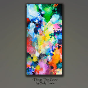 Things That Grow, abstract art painting print by Sally Trace