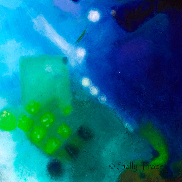 "Modern contemporary abstract wall art giclee print by Sally Trace, ""Third Level Harmonics"", detail"