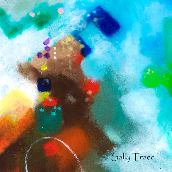 "Modern contemporary abstract wall art giclee print by Sally Trace, ""Third Level Harmonics"" by Sally Trace, detail"