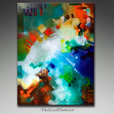 "Modern contemporary abstract wall art giclee print by Sally Trace, ""Third Level Harmonics"" by Sally Trace"