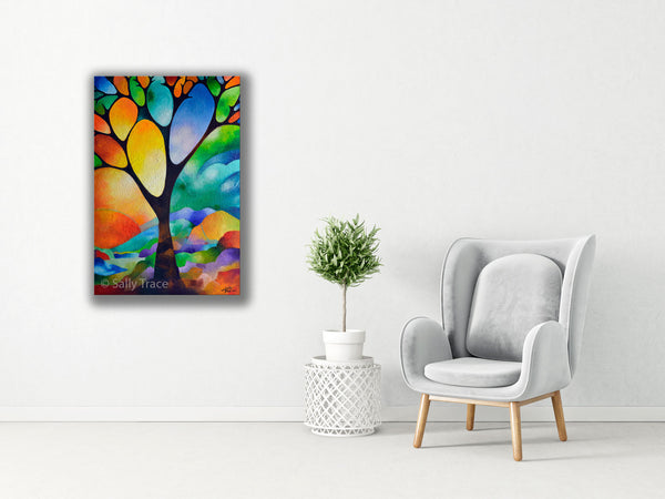 Tree of Joy, Original Painting Commission