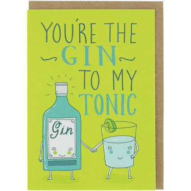 Gin to my tonic card