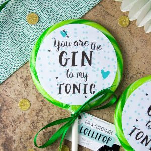 "Gin to my tonic"" Gin & Elderflower Giant Lollipop"