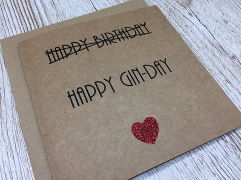 Happy Gin-Day Birthday card