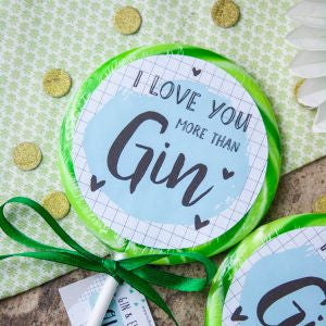 """I love you"" Gin & Elderflower Giant Lollipop"