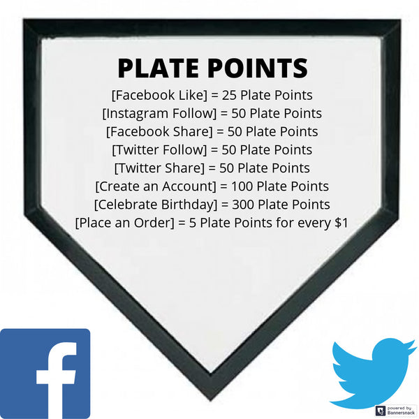 """Get ahead in the count"" when you join our Plate Points Reward Program"