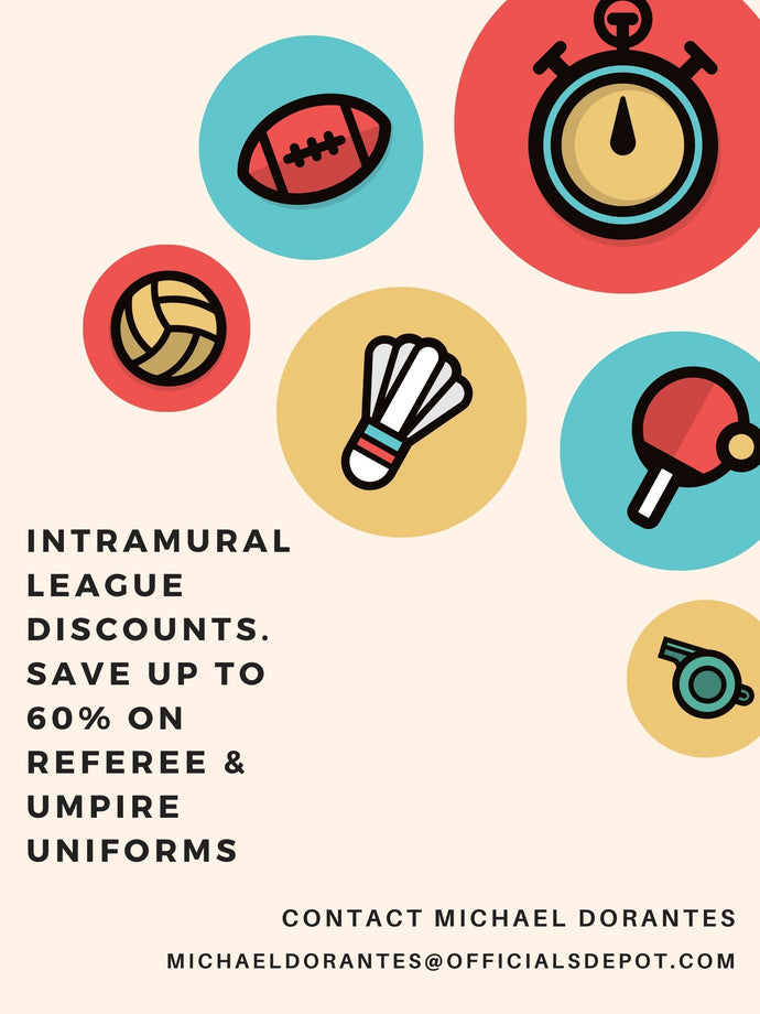 Umpire & Referee Uniforms: Discounts for Intramural Leagues, Universities, Club Leagues - Save up to 60%