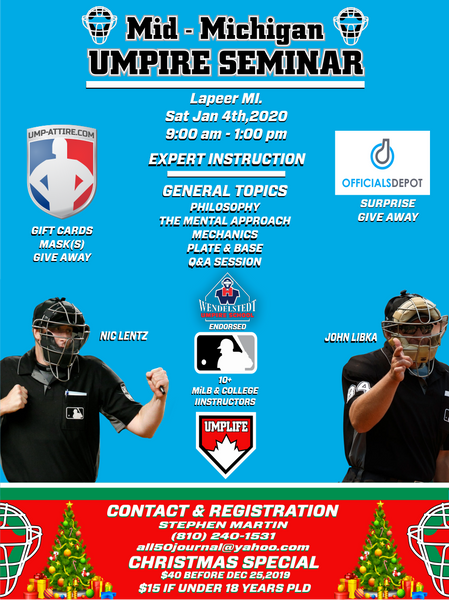 Mid-Michigan Umpire Seminar