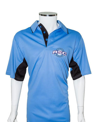 ASC Current Major League Replica Umpire Shirt - SKY BLUE with BLACK - Officials Depot