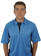 AeroDry Series A MLB Replica Umpire Shirt - Sky Blue with Black Side Panels