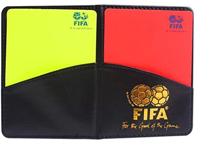 FIFA Soccer Referee Wallet Notebook with Red Card and Yellow Card