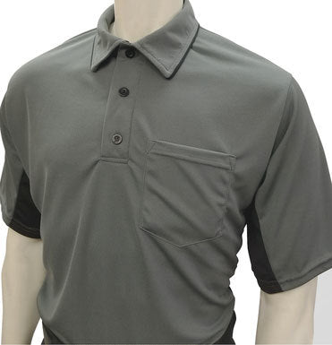 Current Major League Replica Umpire Shirt - GRAY with BLACK SIDES - Officials Depot