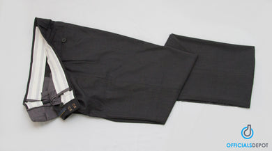 Officials Depot POLY WOOL PLATE PANTS With Exapander Waistband - Charcoal Gray BLL6.0 - Officials Depot