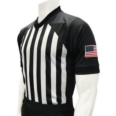 New NCAA Approved V-Neck Basketball Sublimated Referee Shirt - Officials Depot