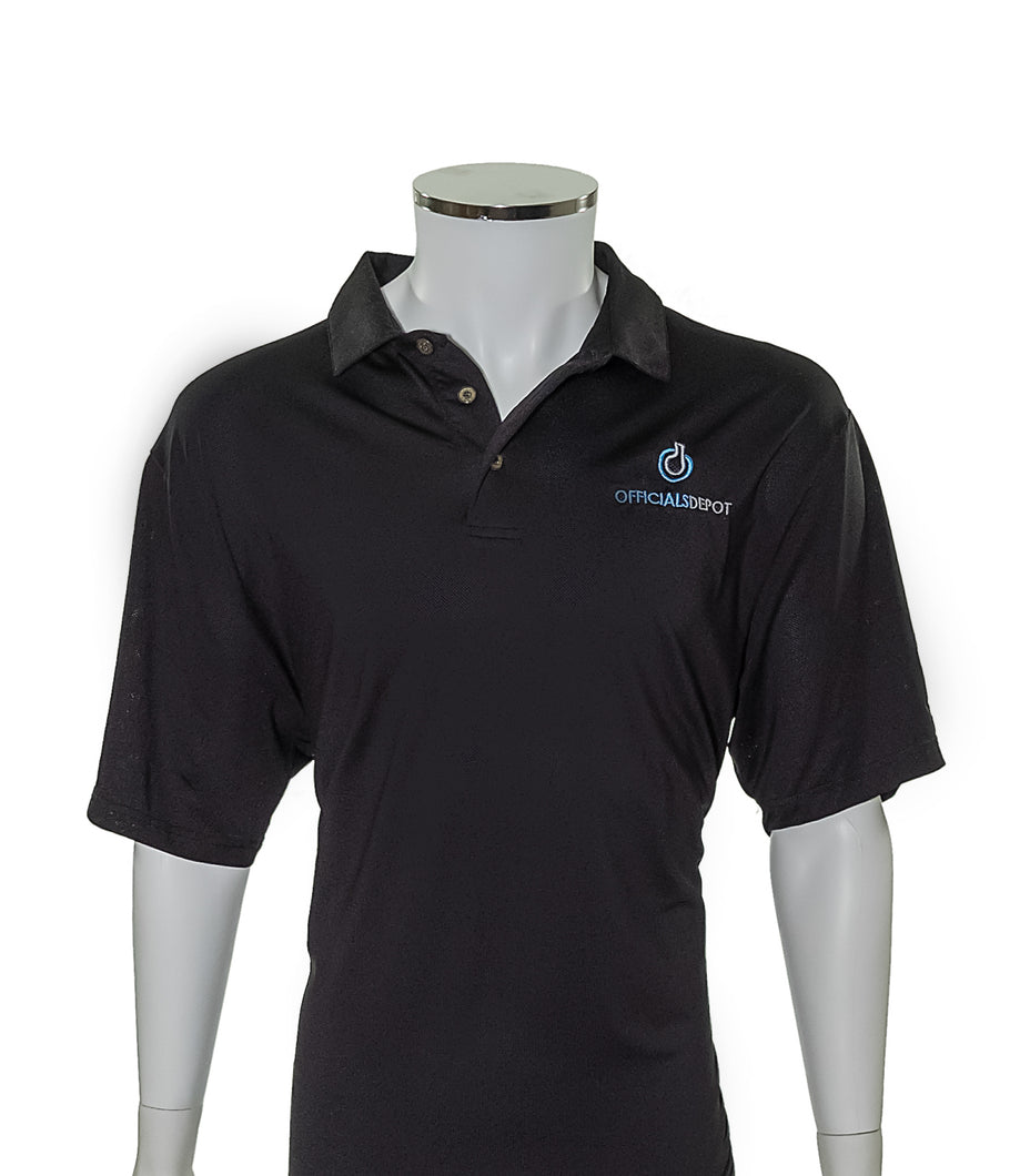 Performance Microfiber Polo with Officials Depot Logo - Officials Depot
