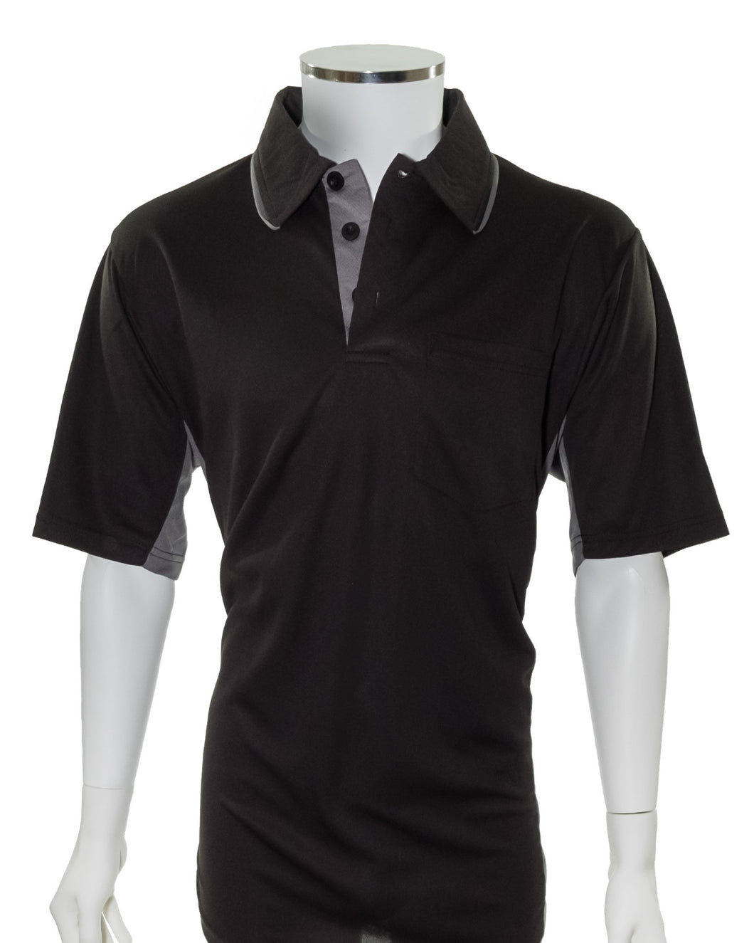 AeroDry Series A MLB Replica Umpire Shirt - Black with Gray Side Panels