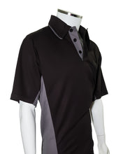 American Association Performance Umpire Shirt - Black Replica with Gray Side Panels - Officials Depot