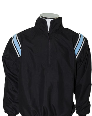 Major League Umpire Jacket - Black With Powder Blue & White Trim - Officials Depot