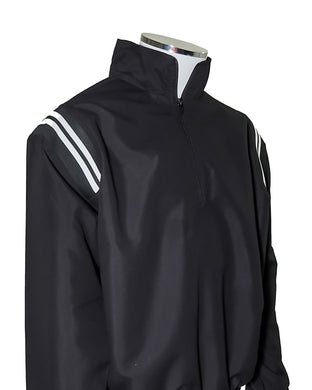 Major League Umpire Jacket - Black With White Piping - Officials Depot