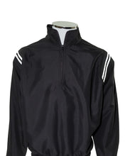 SWAC Major League Umpire Jacket - Black With White Piping - Officials Depot