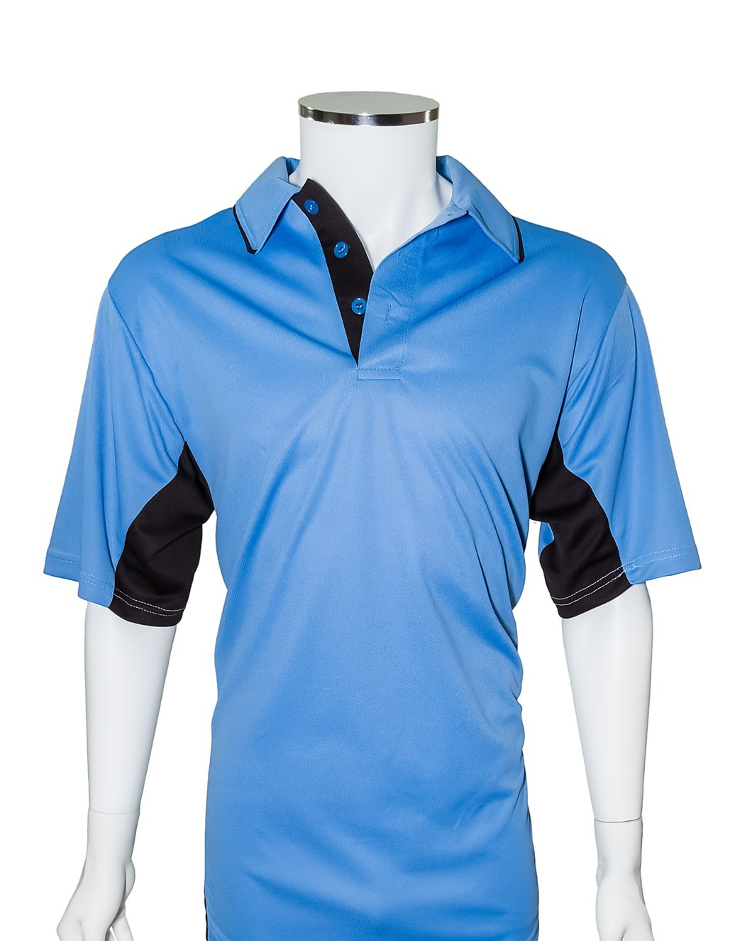 SWAC Current Major League Replica Umpire Shirt - Sky Blue with Black Side Panels