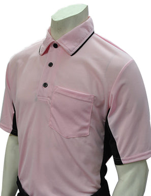 Current Major League Replica Umpire Shirt - PINK with BLACK SIDES - Officials Depot