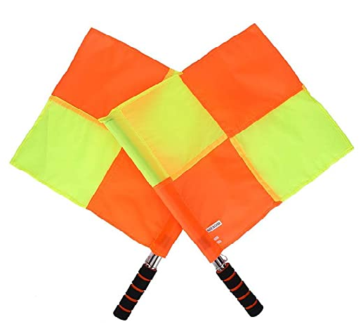 Soccer Referee Flags (Checkered Pattern) | Ultra High Visibility