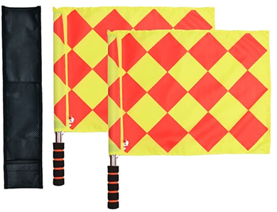 Soccer Referee Flags (Diamond Pattern) | Ultra High Visibility