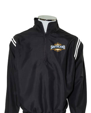 Southland Conference Umpire Jacket - Black With White Piping - Officials Depot