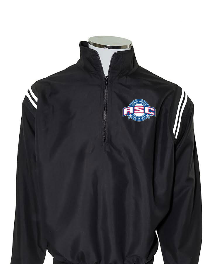 ASC Major League Umpire Jacket - Black With White Piping - Officials Depot