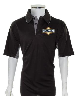 Southland Conference Current Major League Replica Umpire Shirt - BLACK with CHARCOAL GRAY - Officials Depot
