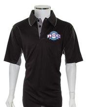 ASC Current Major League Replica Umpire Shirt - BLACK with CHARCOAL GRAY - Officials Depot