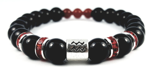 Aquarius's Black Finest Birthstone Bracelet