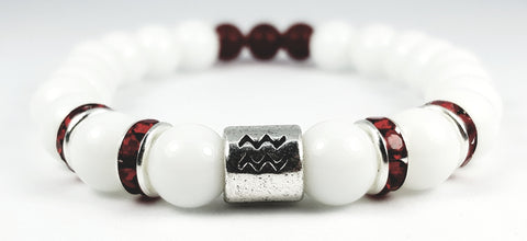 Aquarius's White Finest Birthstone Bracelet