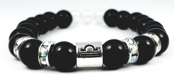 libra's rainbow black onyx by zodiac bling