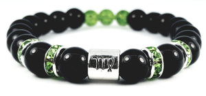 Virgo's peridot black onyx bracelet by zodiac bling