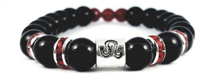 Leo's ruby black onyx bracelet by zodiac bling