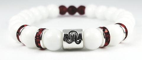 Leo's ruby white onyx bracelet by zodiac bling