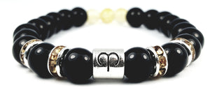 Custom (Aries) Black Onyx Zodiac Birthstone Bracelet