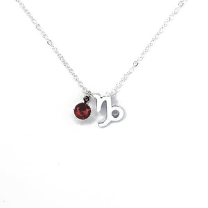 Capricorn's Silver Birthstone Necklace